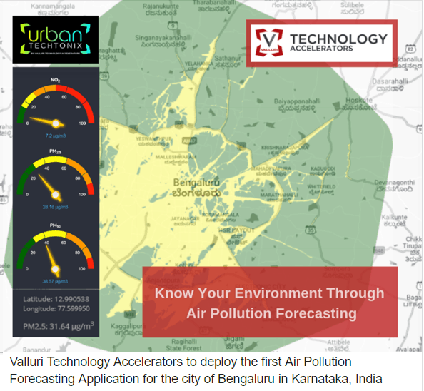 Valluri Technology Accelerators Launches the First Integrated Application of Environmental Pollution Forecast and the Associated Health Risk Assessment for Individuals